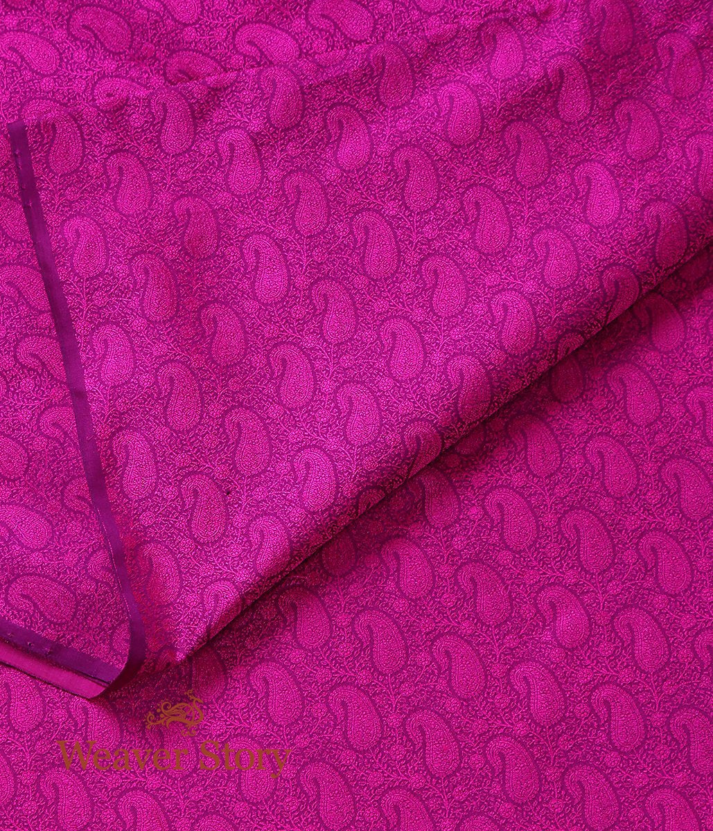 Handwoven Purple and Pink Self Tanchoi Fabric