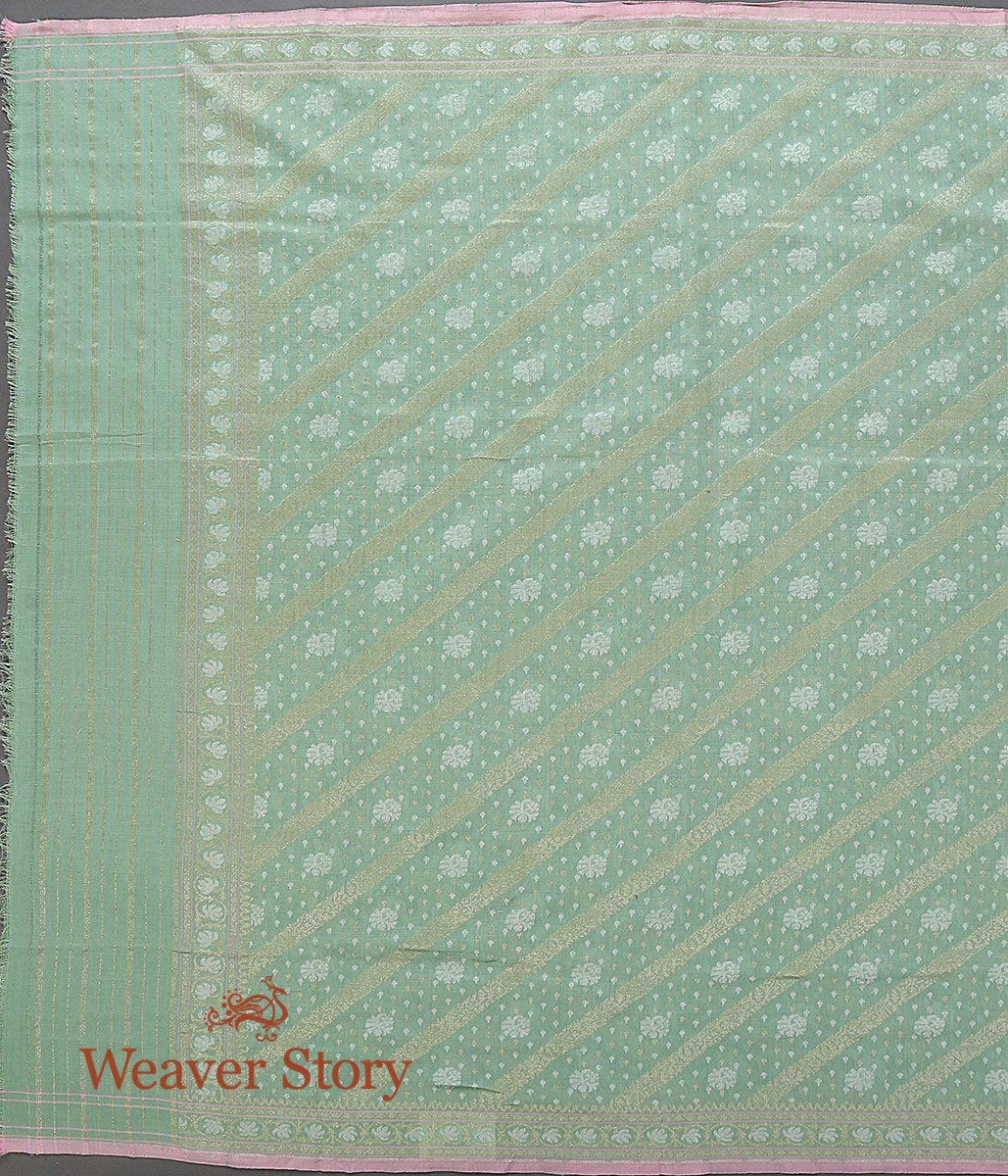 Handwoven Light Green Spun Silk Jamdani Dupatta