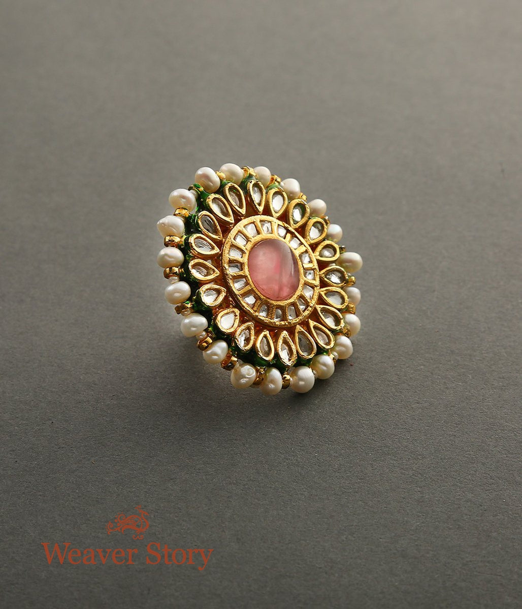 Kundan Ring with Pink Stone