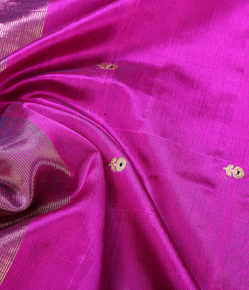 Purple floral booti dupatta in chanderi silk