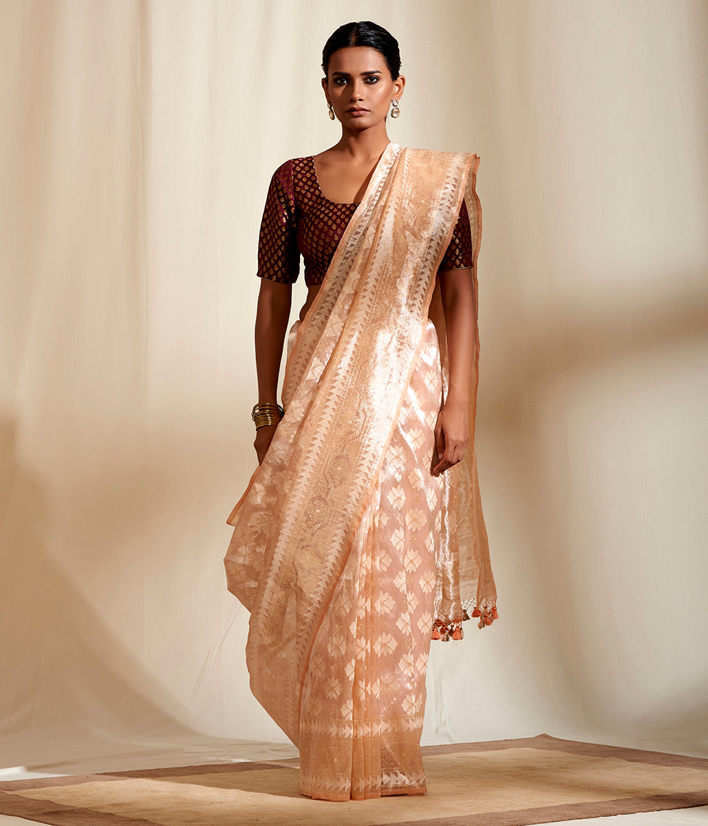 Light Peach Cutwork Tissue With Konia