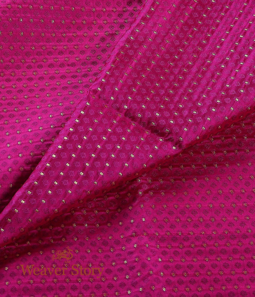 Handwoven Hot Pink Tanchoi Fabric
