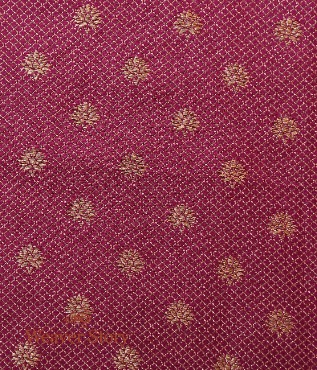 Handwoven Banarasi Tanchoi fabric with Border