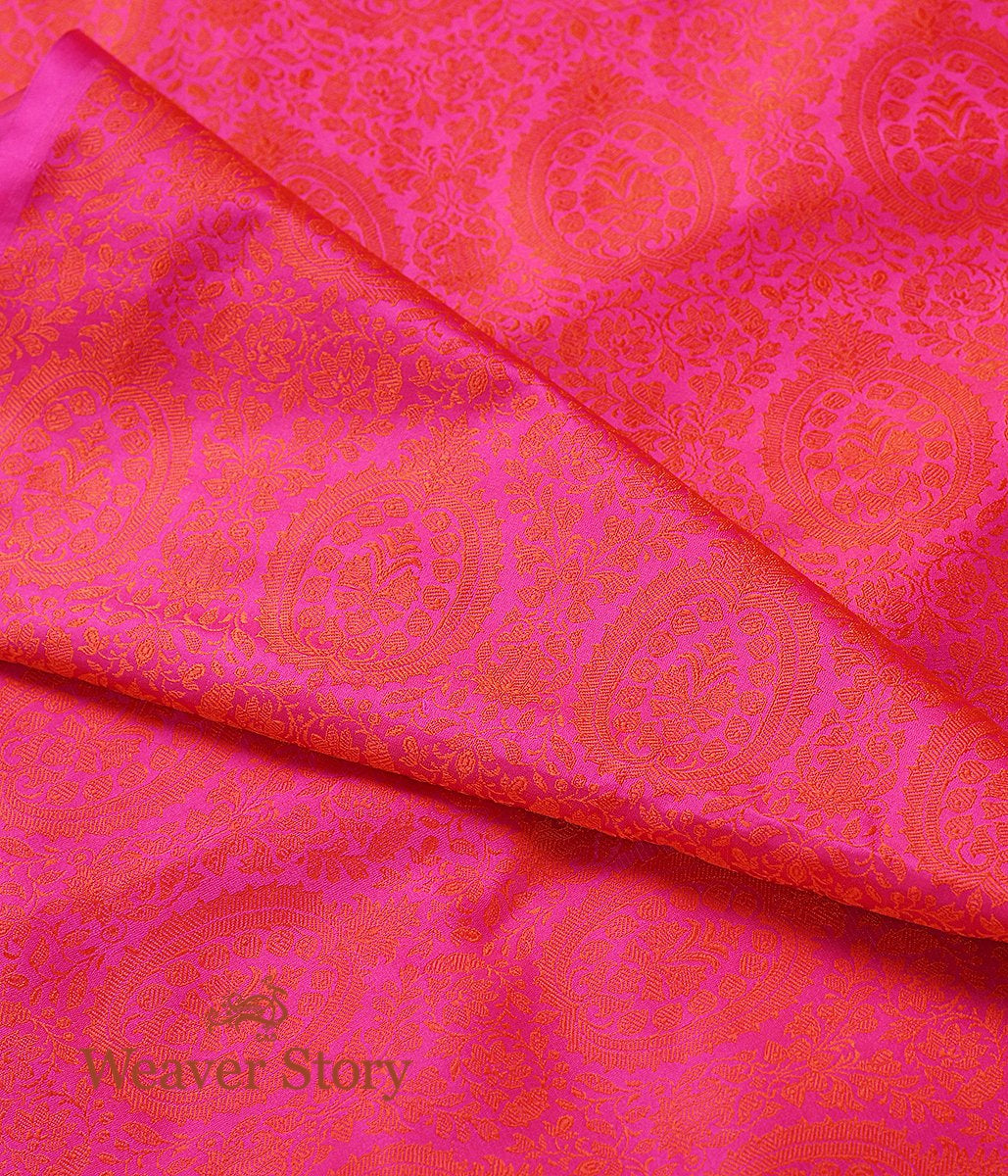 Handwoven Hot Pink Self Tanchoi Fabric