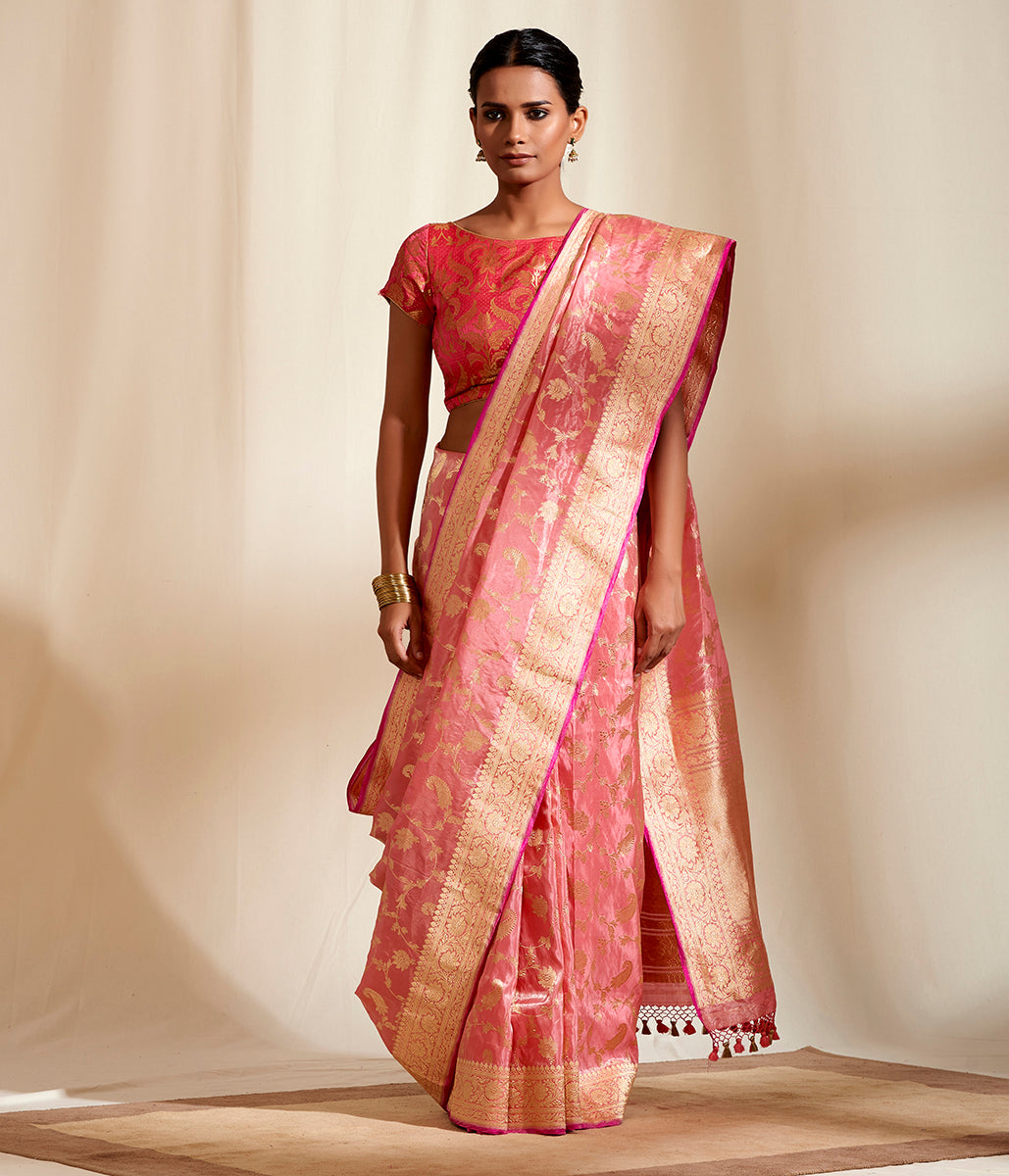 Pink Peach Delicate Tissue Jangla