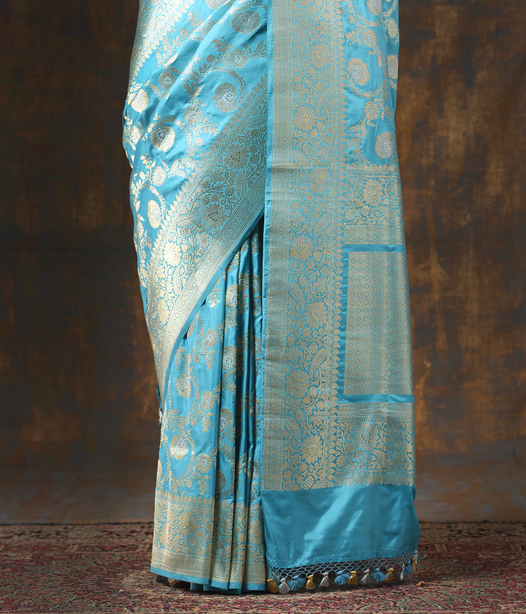 Handwoven Light Blue Kadhwa Jangla