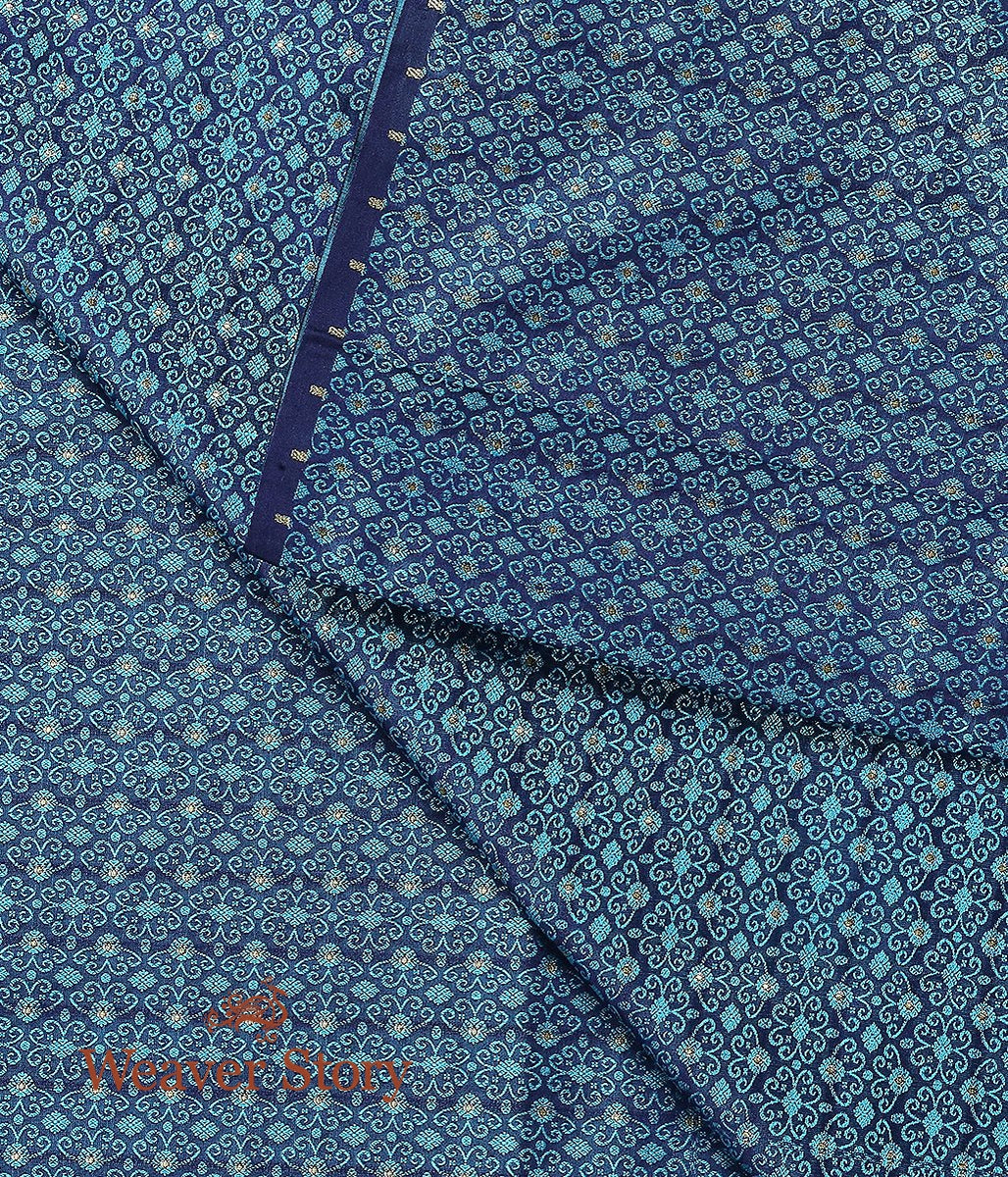 Handwoven Blue Tanchoi Fabric