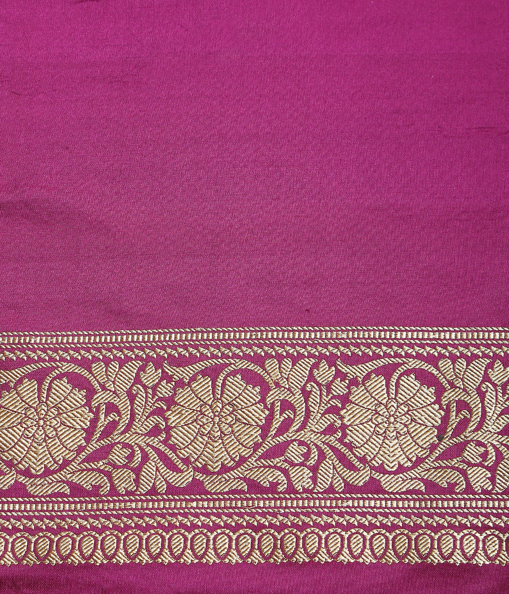 Handwoven Purple Ektara Jangla with Konia Pallu