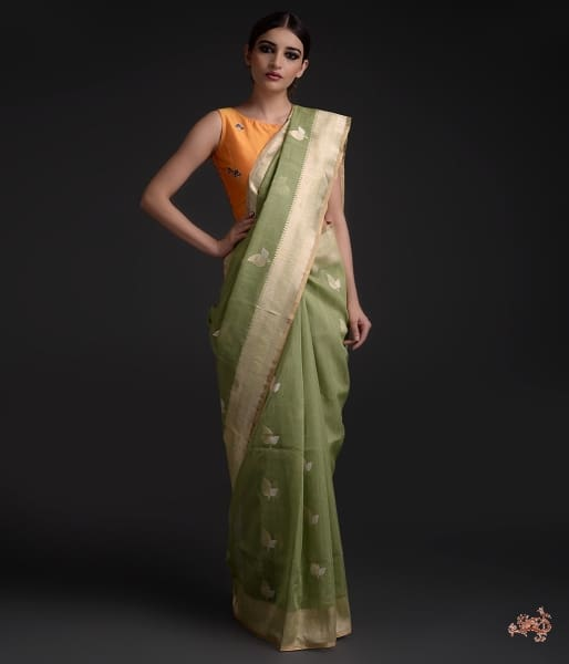 Handwoven Pure Cotton Jamdani Weave Saree Saree
