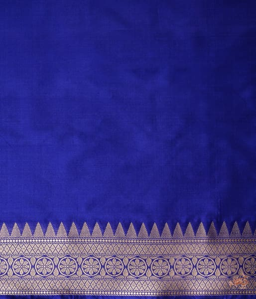 Royal Blue Tanchoi With Heavy Border Saree