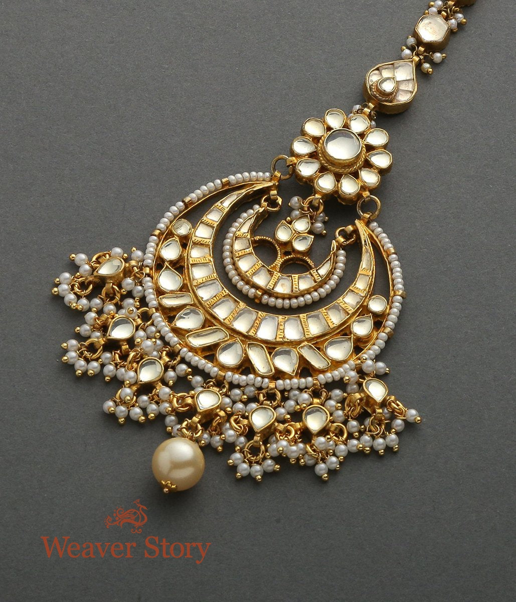 Golden Kundan Chandbala Tikka