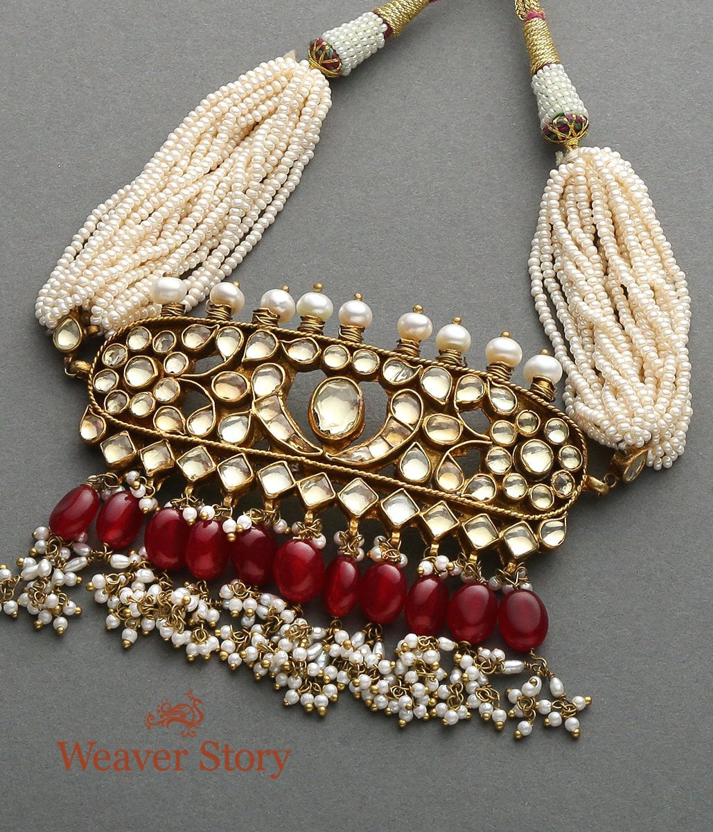 Antique Kundan Choker with Rubies