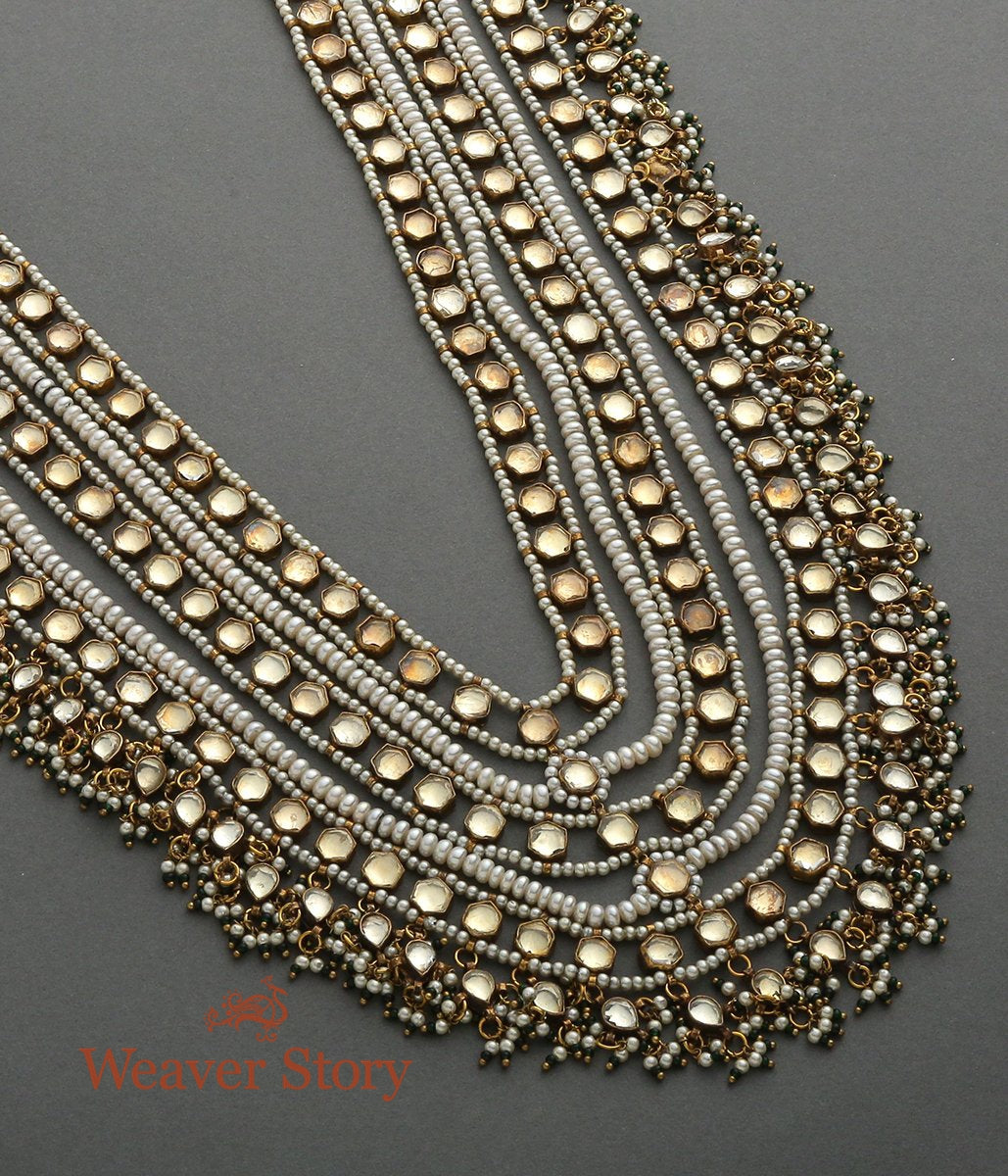 Antique Kundan and Pearl Layered Necklace