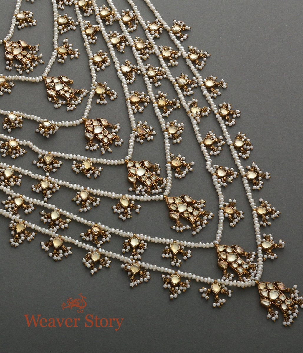 Antique Kundan Satlada Necklace