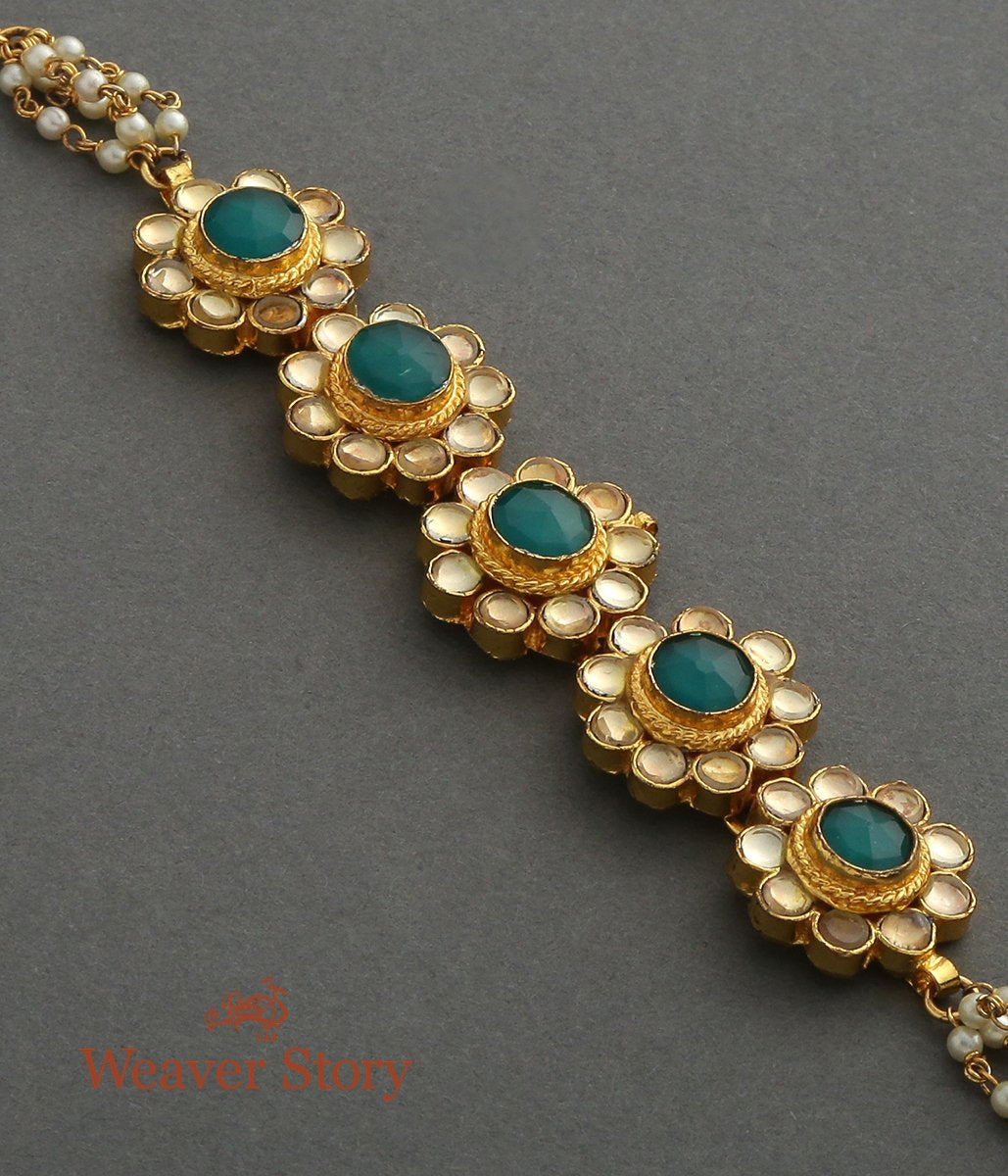 Antique Kundan Flower Bracelet