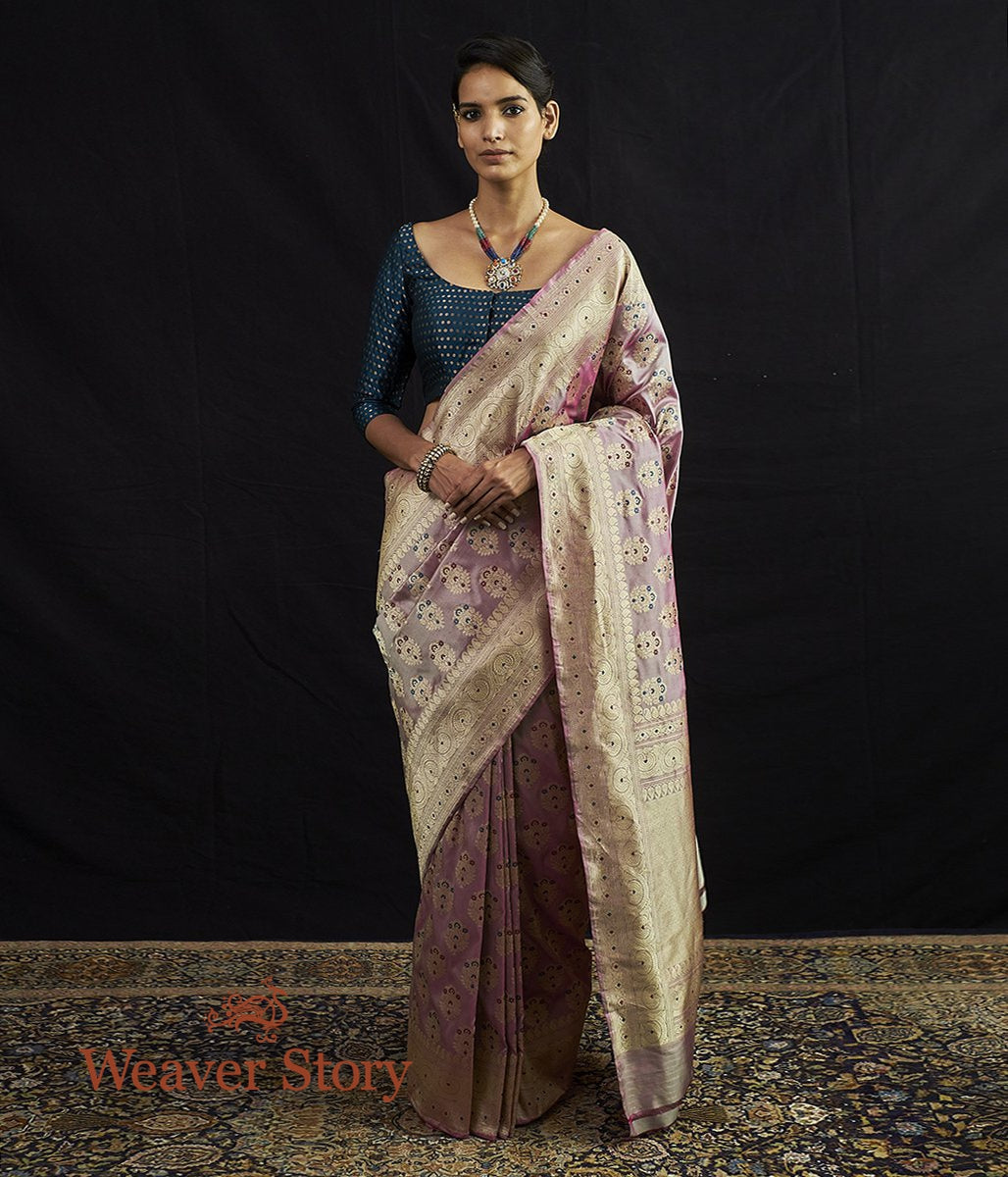 Handwoven Kadhwa Booti Saree with Beldar Border