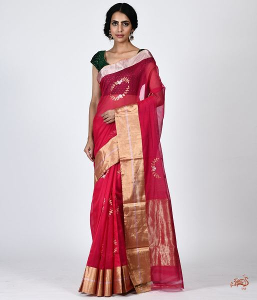Handwoven Chanderi Saree Saree