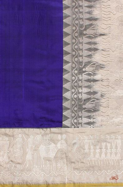 Purple And Beige Madhubani Weave Saree Saree
