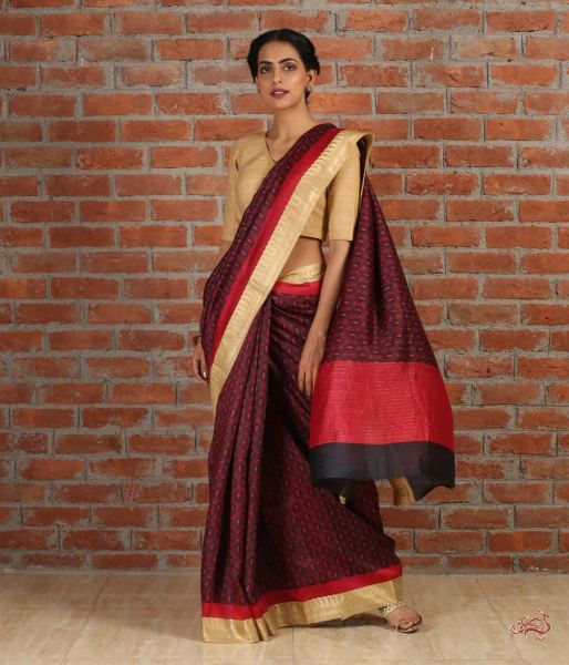 Handwoven Pure Tusser Silk Saree Saree