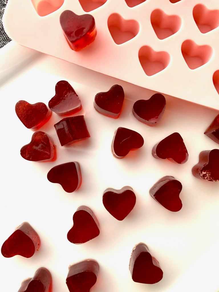 Homemade Heart Gummies