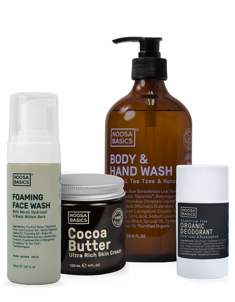 Body Wash, Face Wash, Deodorant Stick and Body Butter
