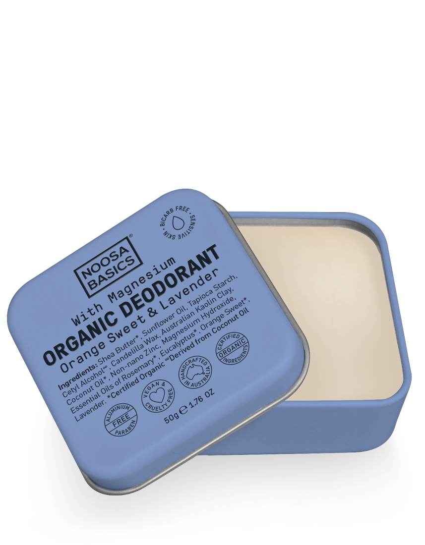 Organic Deodorant Cream with Magnesium / Bi-Carb Free