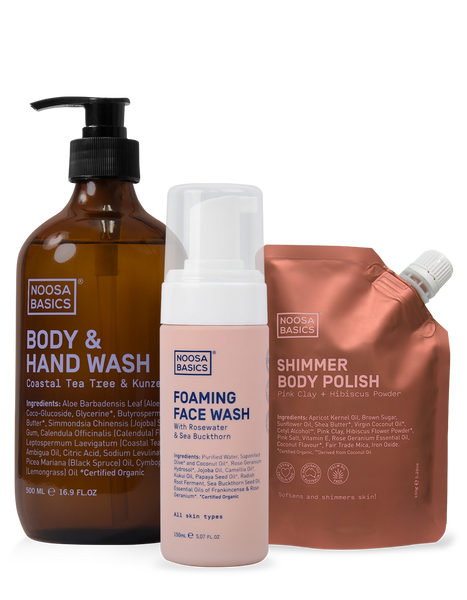 Body Wash, Face Wash and Scrub