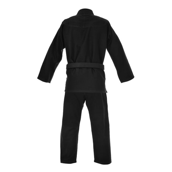 Kids Pearl Weave Jacket & Pants Ripstop Fabric- BJJ Gi (Black)