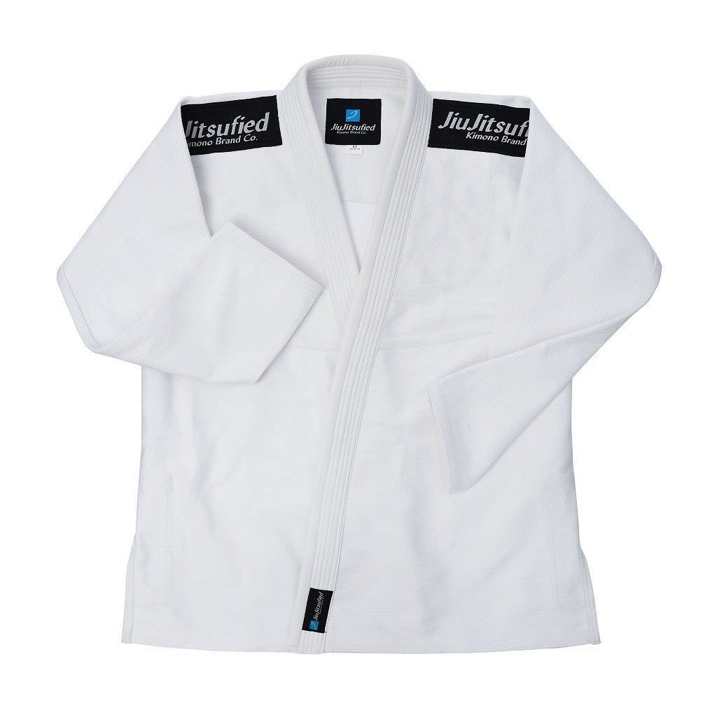Kids Pearl Weave Jacket & Pants Ripstop Fabric- BJJ Gi (White)