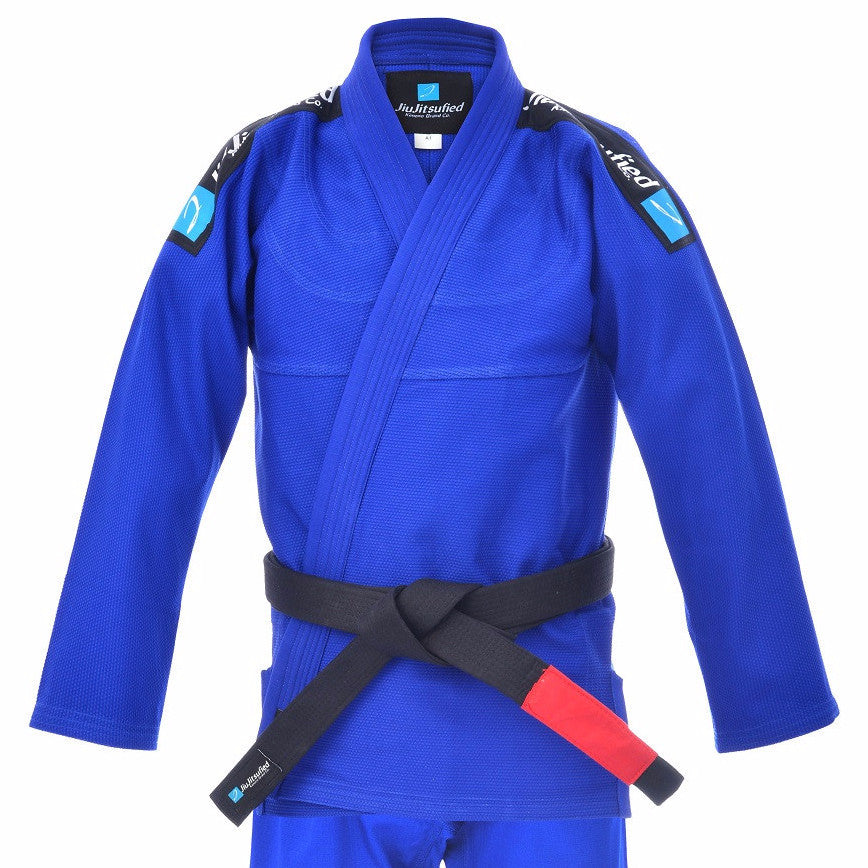 Pearl Weave Jacket & Pants Ripstop Fabric- BJJ Gi (Blue)