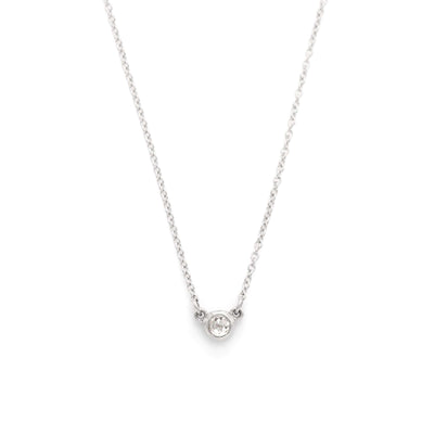 Rose Cut Ice Diamond Necklace | Platinum