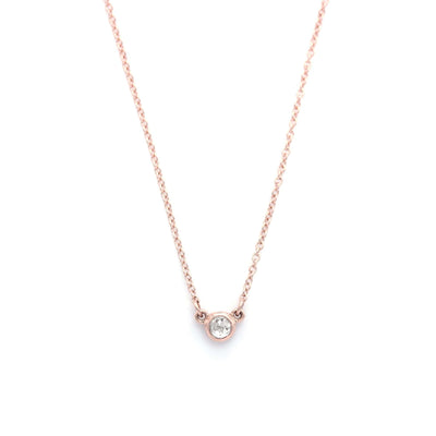 Rose Cut Ice Diamond Necklace | Rose Gold