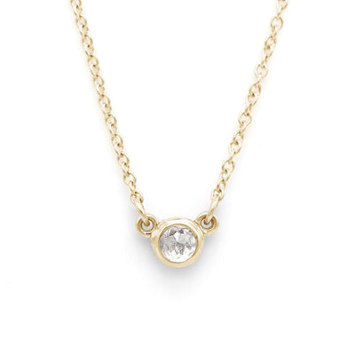 Rose Cut Ice Diamond Necklace | Yellow Gold