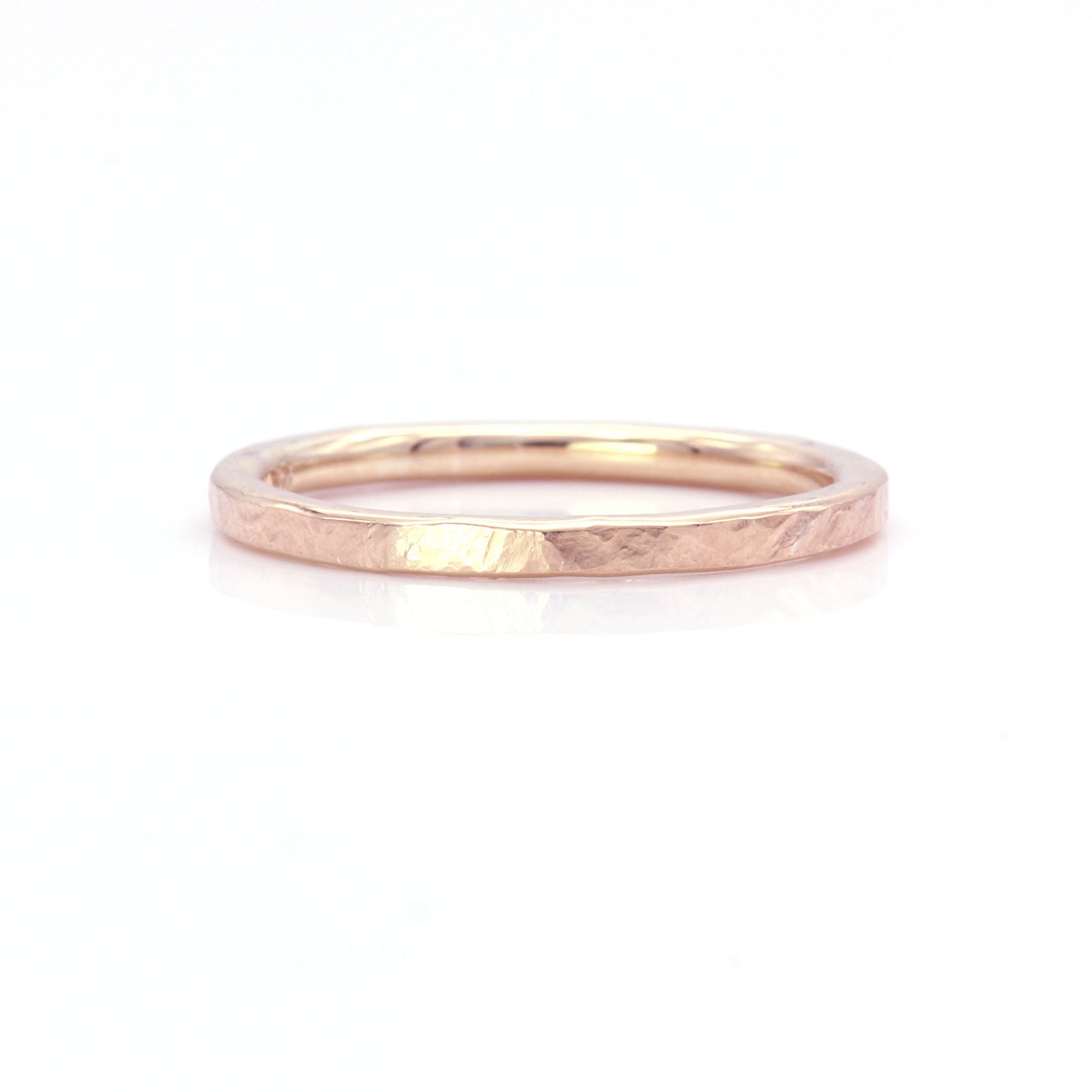 Organic Silk Textured Band | 2mm Wide | Rose Gold