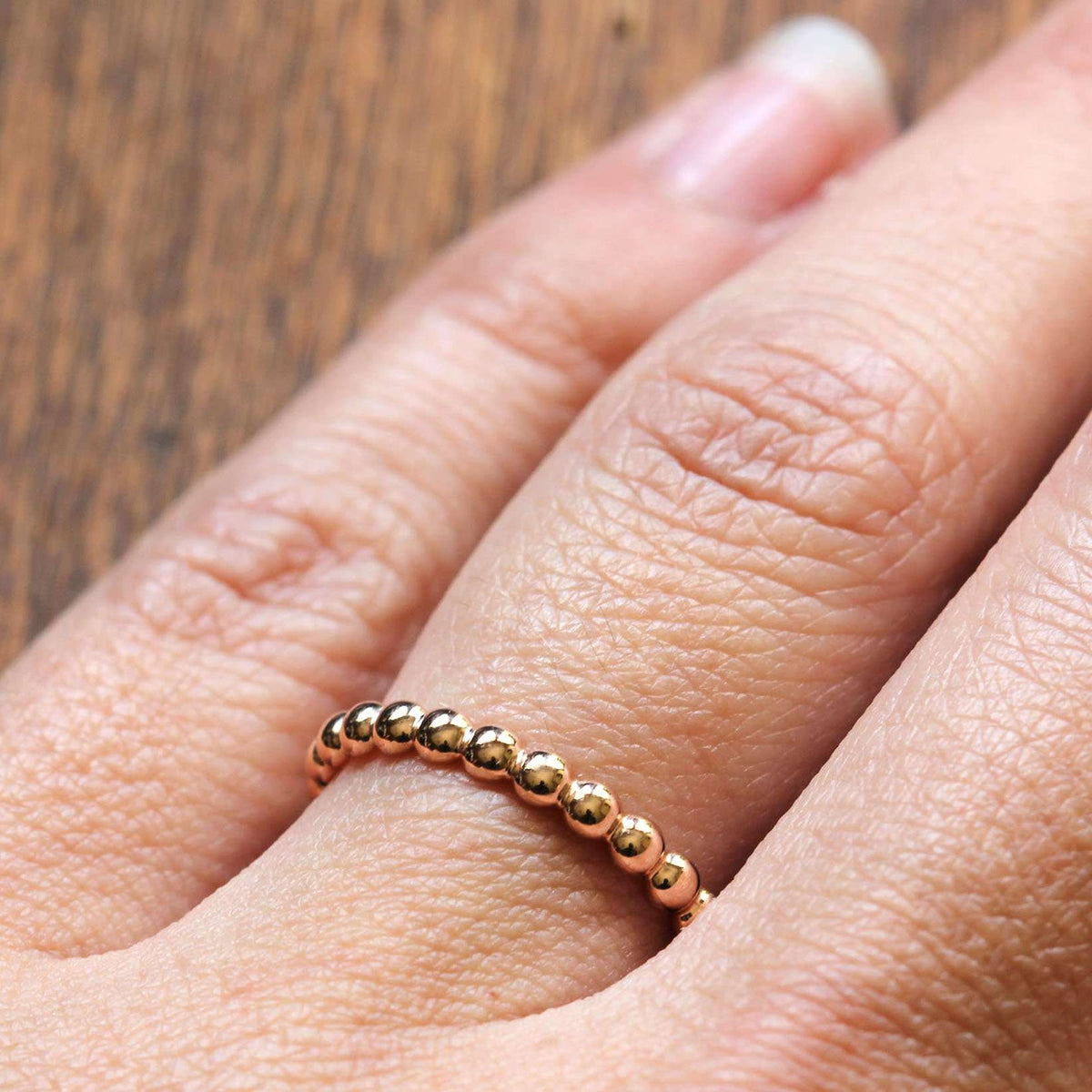 Beaded Eternity Band | Rose Gold
