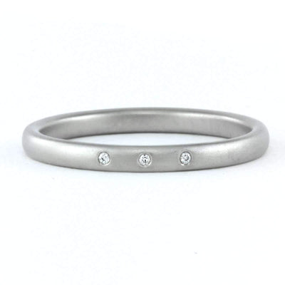 Satin Comfort Fit Wedding Band-Alysha Whitfield
