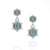 Camellia | Aquamarine Double Drop Hexagon Earrings