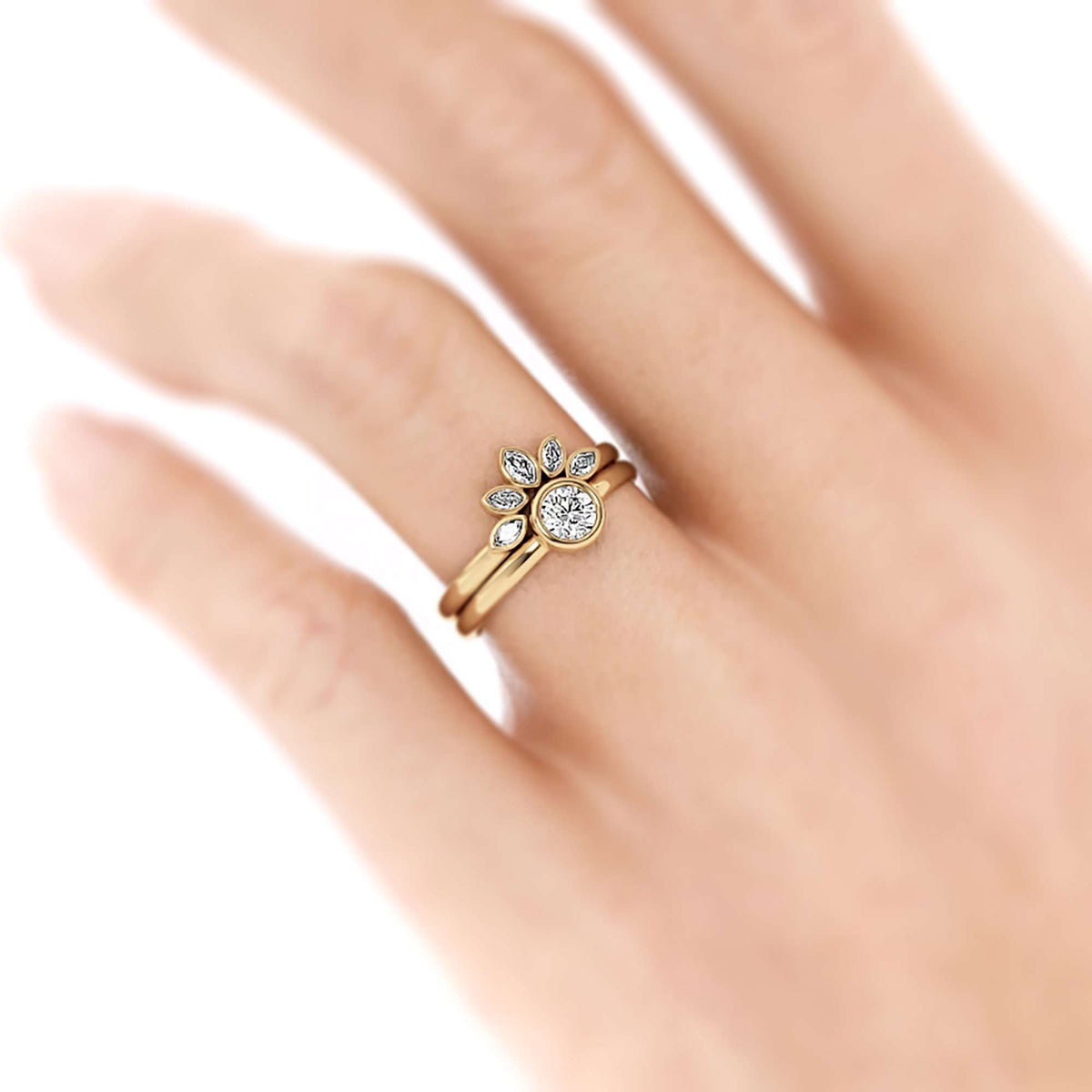 Classic Bezel Round | Diamond or Moissanite Solitaire Ring-Alysha Whitfield