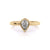 Classic Bezel Pear | Diamond or Moissanite Solitaire Ring | Yellow Gold