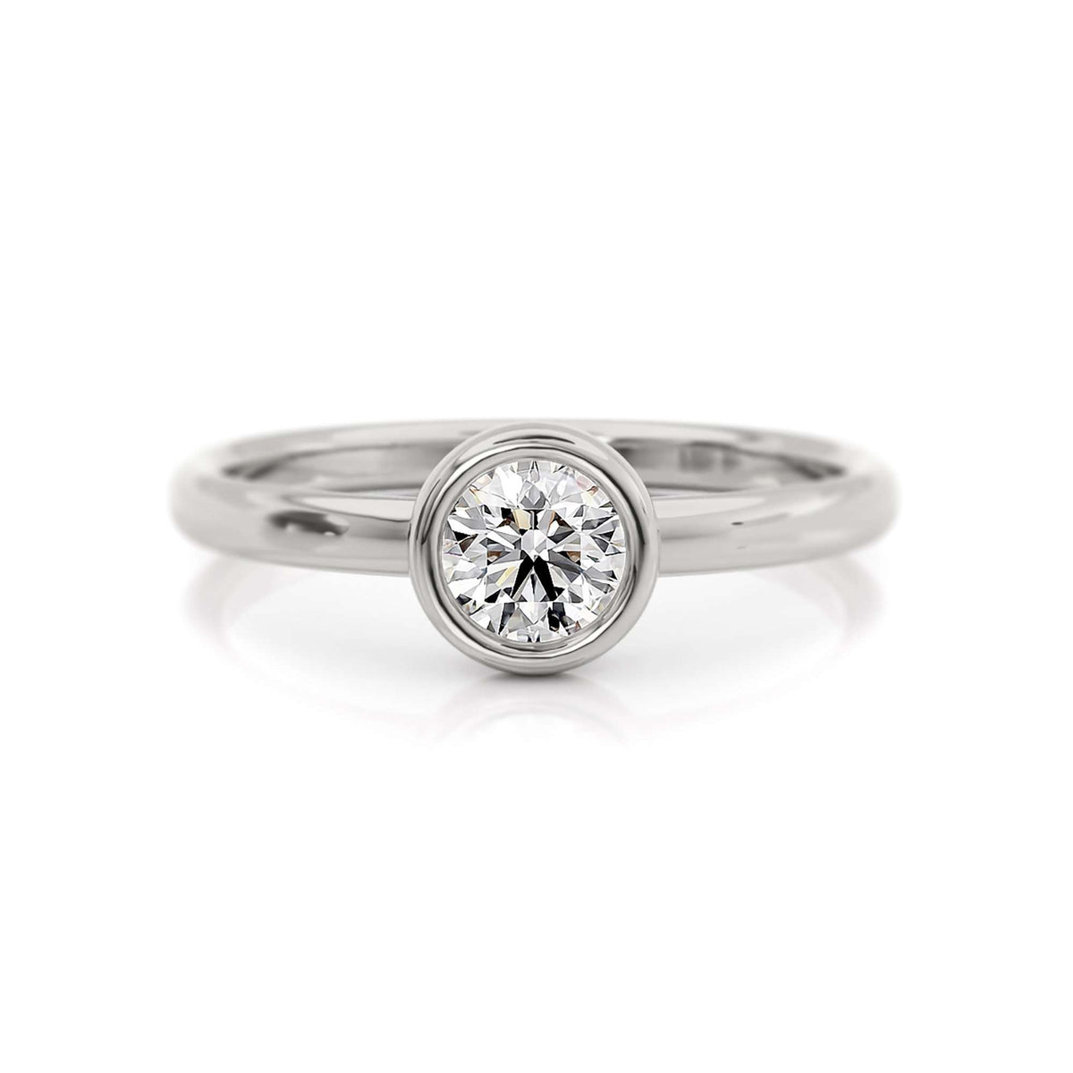 Classic Bezel Round with Marquise Diamond Nesting Band-Alysha Whitfield