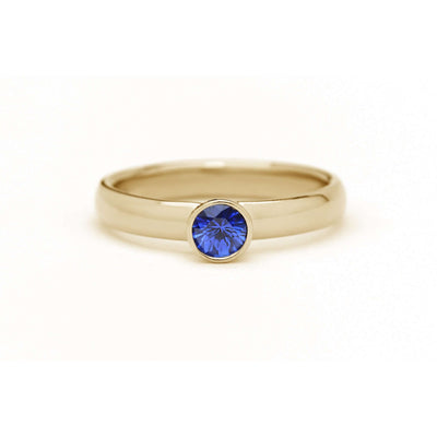 Natural Ceylon Blue Sapphire Ring | Yellow Gold