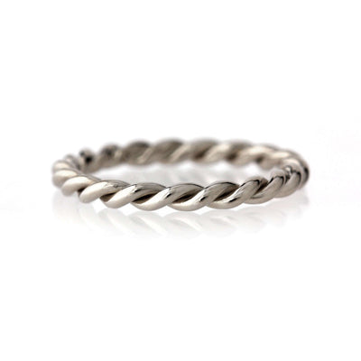 Twisted Rope Band | Palladium White Gold