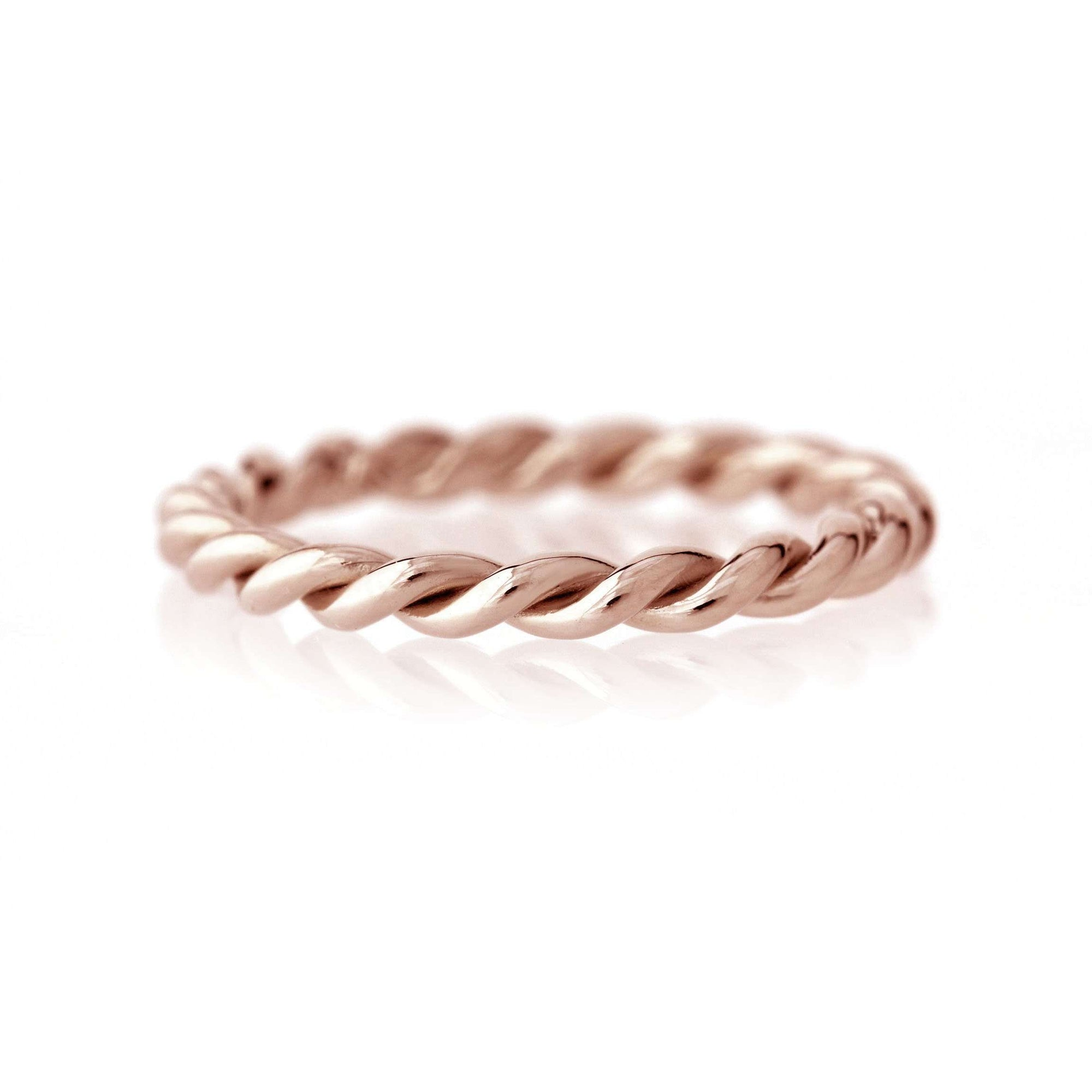 Twisted Rope Band | Rose Gold