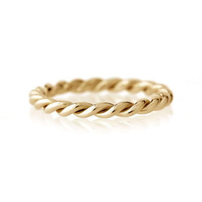 Twisted Rope Band | Yellow Gold