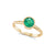 Natural Colombian Emerald Ring | Yellow Gold