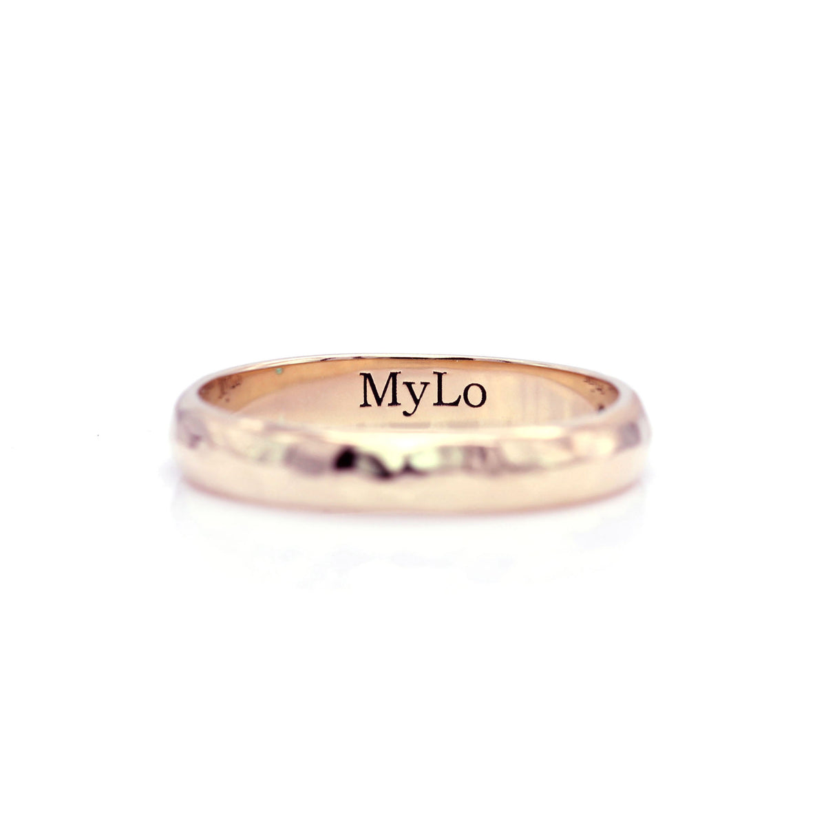 Hammered Ring Band - Rose Gold