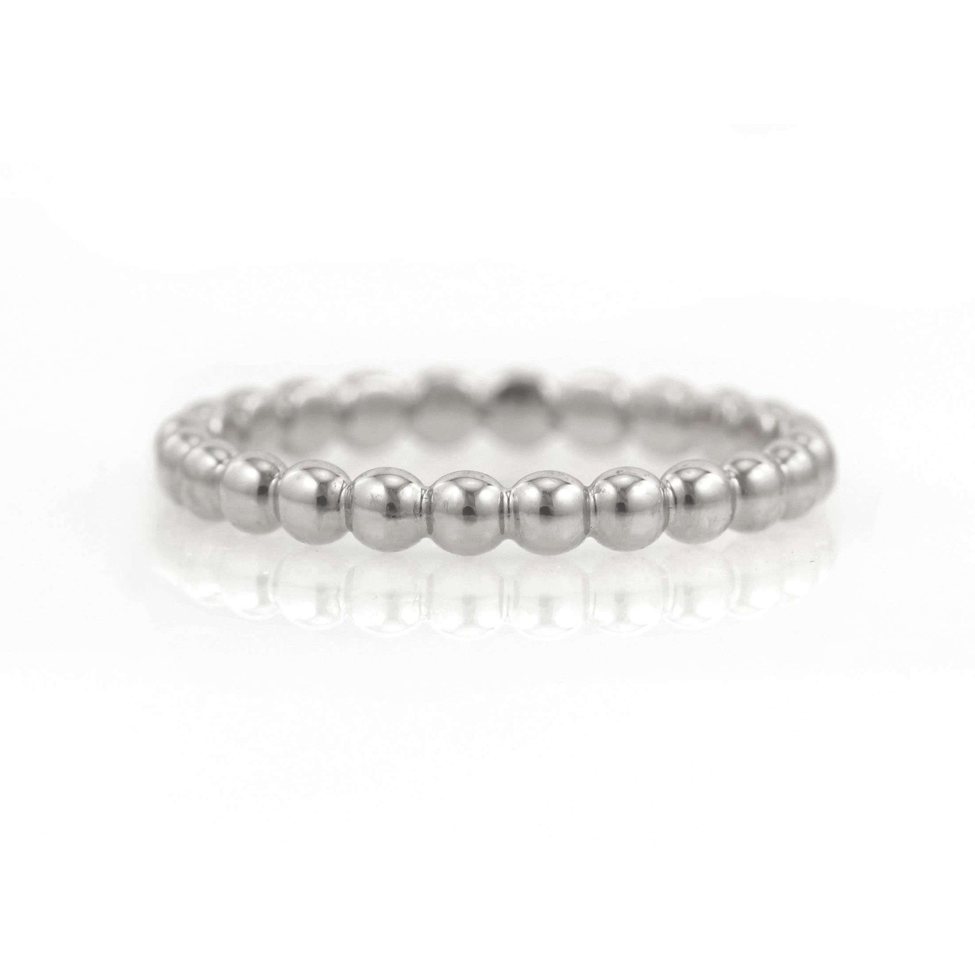 Beaded Eternity Band | Palladium White Gold | Platinum | 950 Palladium