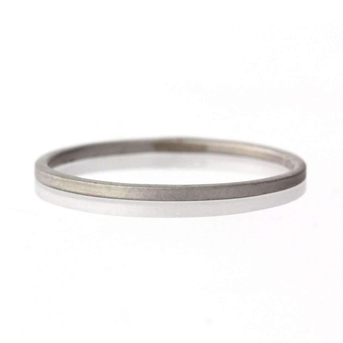 Petite Square Satin Texture Matte Band Minimalist Ring-Alysha Whitfield