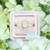 Dahlia | Milky White Round Rose Cut Diamond Halo Engagement Ring in 14k Rose Gold-Alysha Whitfield