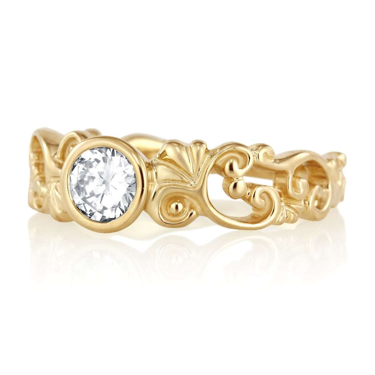Filigree Engagement Ring with Diamond or Moissanite-Alysha Whitfield